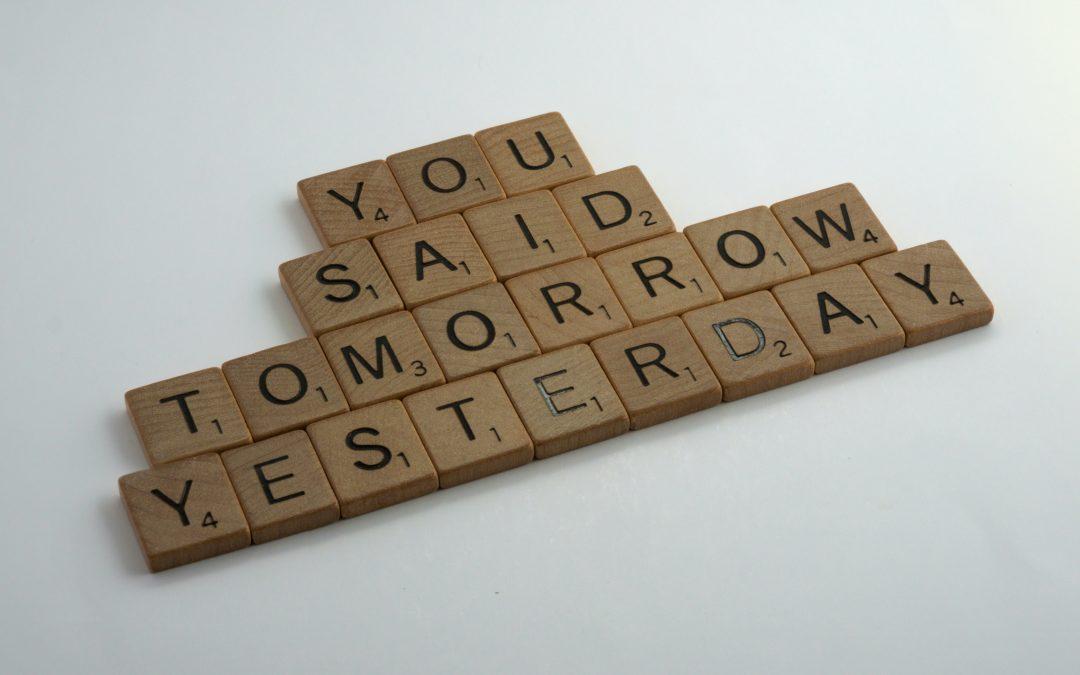 Procrastination: It's not a four-letter word